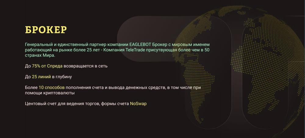Торговый робот «EAGLEBOT» для заработка на Форексе.